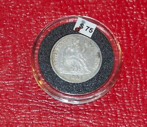 1891-O New Orleans Mint Silver Seated Liberty Dime VF-XF 10¢
