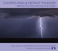 Calming Rain & Distant Thunder - Nature Sounds CD - Relaxation & Sleep - NEW