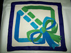 """FOULARD """"TRE CI"""" VINTAGE 70 SILK SCARF 100% MADE IN ITALY HAND PRINTED"""