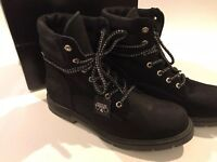 Perises Black leather suede Ankle Boots UK Size 8.5 / 9 NEW and boxed