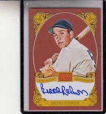 """2013 Panini Golden Age Brooks Robinson """" Baltimore Orioles """" Autografo per Auto"""