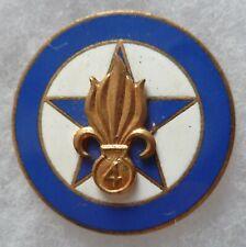 Insigne COMPAGNIE REGIMENTAIRE 4° REI SAHARA AFN LEGION ETRANGERE Retirage A.B.