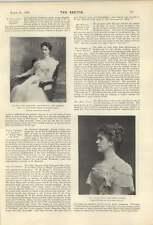 1900 Miss Helen Trust Charmant chanteur REV FJ de CHAVASSE Bishop Liverpool