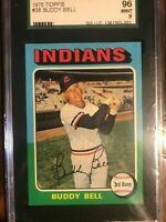 1975 Topps Buddy Bell #38 Cleveland Indians SGC 96 mint 9 *SWEET*