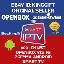 12 MONTH IPTV Subscription UK/IRL Mag 256/254 Smart TV ZGEMMA Openbox v8s/v9s