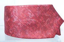 NUEVO KITON Hombre Rojo Corbata Estampado Arabescos Seda Clásico Corbatín