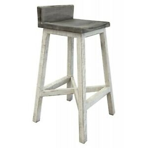 "Crafters and Weavers Stonegate Solid Wood Bar Stool - 30"" Seat Height"