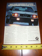 1982 BMW 320i - ORIGINAL AD