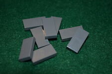 (8) DARK GRAY 1x2 Smooth Finishing Tile Brick Bricks  ~ Lego  ~ NEW