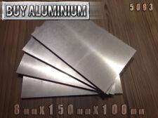 PIASTRE IN ALLUMINIO 8 MM/Fogli 150 mm x 100 mm - 5083