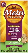 Metamucil Fiber Wafers Apple Crisp 24 Each (Pack of 2)