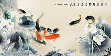 Japanese Koi fish Modern Wall Art Décor Koi Painting Koi Fish Art