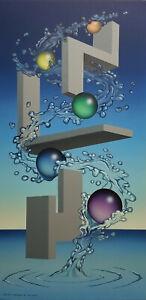 Randy Dunham - Surrealism Painting - Floating Maze