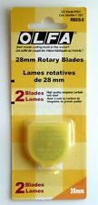 Genuine Olfa Rotary Cutter Blades 2pc 28 mm RB28-2- Sealed Package