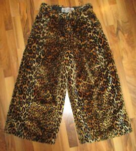 Vintage 90s Beatfreaks Plush Fur Leopard Print Rave Pants Wide Leg JNCO Freaky
