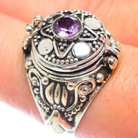 Amethyst 925 Sterling Silver Poison Ring Size 8.75 Ana Co Jewelry R54069
