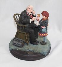 1998 Curtis Saturday Evening Post Doctor & Doll Dolly Norman Rockwell Figurine