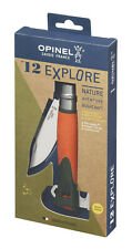 Opinel N°12 Explore Orange survie, bivouac, chasse - inox