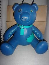 NWT COACH Limited Edition 2016 BEAR Pebbled Leather ACE Blue F56846 Rare $550