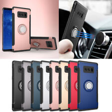 Metal Finger Ring Holder Stand Hard Armor Cover Case For Samsung Galaxy S9 J5 S8