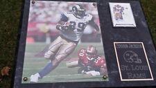 Stevan Jackson #39 St. Louis Rams signed plaque+ coa