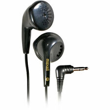 Maxell Black Stereo Earbuds 20-20K Hz Lightweight Comfy Fast Ship from US Seller