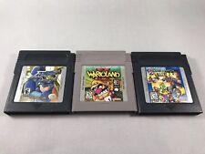 Lot Of 3 Nintendo Game Boy Games Mega Man Warioland 2 Game & Watch Tested