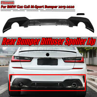 Carbon Fiber Look M Sport Rear Bumper Lip Diffuser For BMW G20 G28 M Sport 19-20