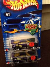 HTF HOT WHEELS TOYOTA CELICA TUNER RHL MAN TURBO #151 1:64 PURPLE SET OF 2