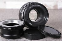 Soviet lens HELIOS 44M-4 2/58mm F2 for Zenit Russian Lens for Micro 4/3
