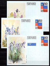 Liechtenstein - 1987 Postcard set flowers / aquarel -  Mi. P 85-87