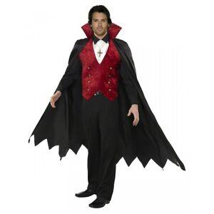 Dracula Costume Adult Vampire Halloween Fancy Dress