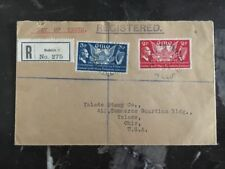 1939 Dublin Ireland First Day Cover FDC To Toledo Stamps Co Usa