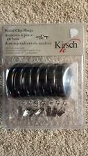 NEW Kirsch Wood Clip Rings