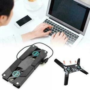 2Fans Foldable Laptop Cooling Cooler Pad Stand USB Powered For Laptop Tool A2E7