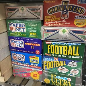 Incredible Football Cards Storage Find - Vintage Sealed NFL Wax Packs Card Lot