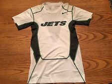 NIKE NEW YORK JETS NFL MENS TEAM ISSUE HYPERCOOL FITTED ONFIELD SIDELINE SHIRT L