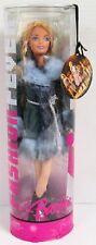Barbie Fashion Fever Barbie Doll J1385 Blue Gray Fur Coat Ensemble (NEW)