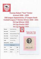 TOM PARKER Arsenale 1926-1933 MOLTO RARA ORIG mano firmato TAGLIO & Rivista PIC