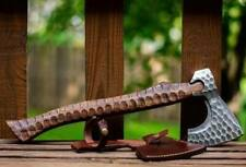 ※ Viking type light bearded axe / hatchet with handle - RARE SHAPE!!!