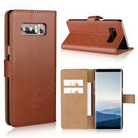 For Samsung Galaxy Note 8 Phone Genuine Leather Wallet Case Flip Card Slot Cover