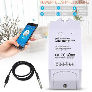 SONOFF TH16 Wi-Fi Smart Switch Temperatur Luftfeuchtigkeit Sensor Fernbedienung