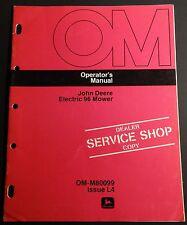 John Deere Electric 96 Mower Operators Service Manual Om-M80099 Issue L4 (807)