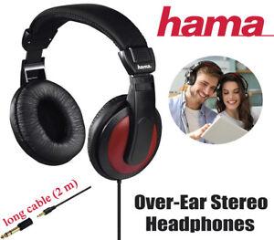 Hama Headphones Noise Cancelling Over-Ear Stereo Earphones Wired Black Comfort