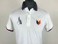 Philippines Embroidered Map Flag Polo Shirt Men's Size L Casual Top Manila Pinoy