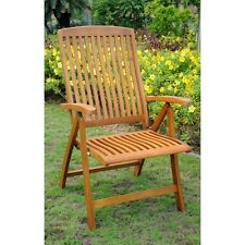 International Caravan Royal Tahiti Set of 2, 5-Position Folding Arm Chair, Brown