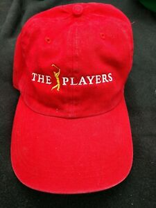 NWOT The Players Championship PGA Tournament Golf Red Hat Cap w/ PWC Logo