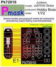 Junkers Ju87D/G Stuka Pintura Máscara Para Hobby Boss Kit #72010 1/72 pmask