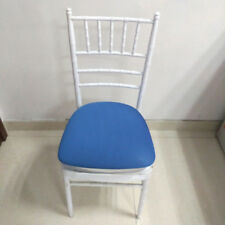 10Pcs Removable Stretch Dining Chair Seat Cover Wedding Banquet Decor Blue