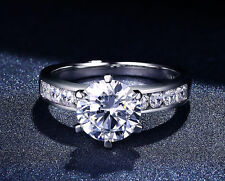 2.50 Ct D/VVS1 Round Brilliant Cut Diamond Engagement Ring Halo 14k White Gold.